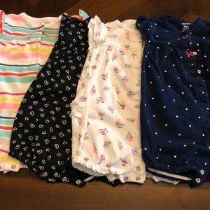 Carters 18 month rompers